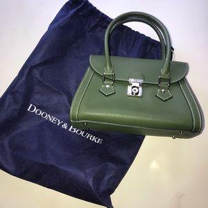 Dooney & Bourke Small Green Flap Satchel